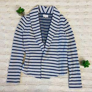 {Lou & Grey} Open Soft Striped Blazer Jacket